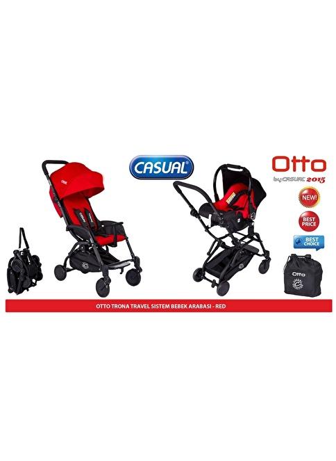 Casual Casual Otto Trona T/S Bebek Arabası (2015)  Kırmızı